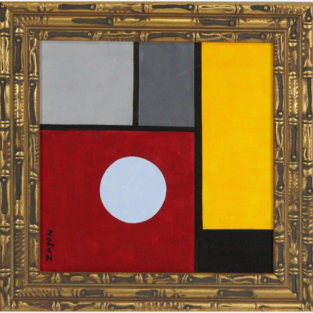 Seymour Zayon, Mid-Century Modern Circle and Squares