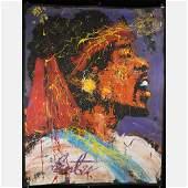 Denny Dent, Jimi Hendrix Portrait Oil Painting