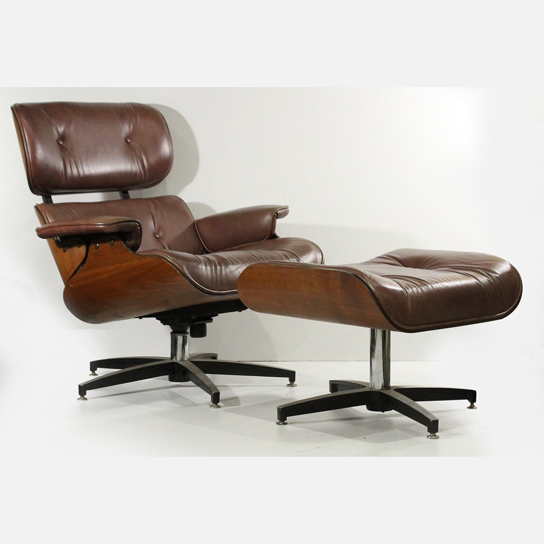 Herman Miller style Eames Lounge Chair & Ottoman