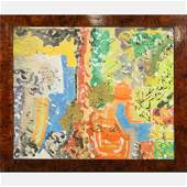 Modernism Abstract Oilc Painting Framed