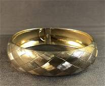 Sterling Silver and 14 K Gold Bangle Bracelet