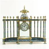 Cloisonne Mantle Clock - Made in Peoples Republic China