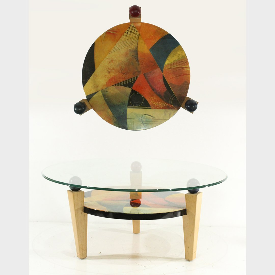 Benjamin Le Memphis Style Coffee Table with Gold Foil