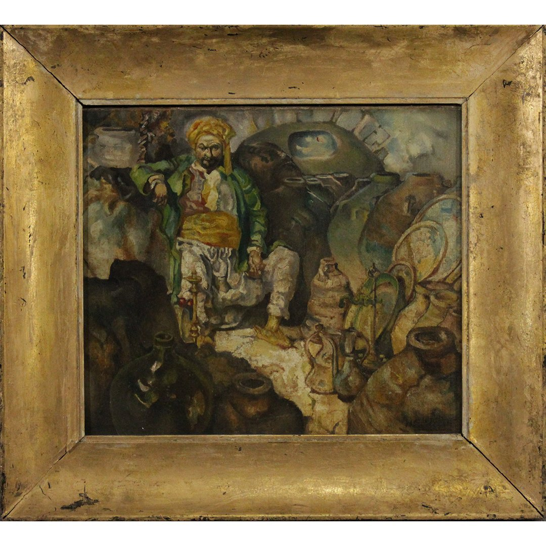 N C Wyeth Oil on canvas Painting Turkish Merchant