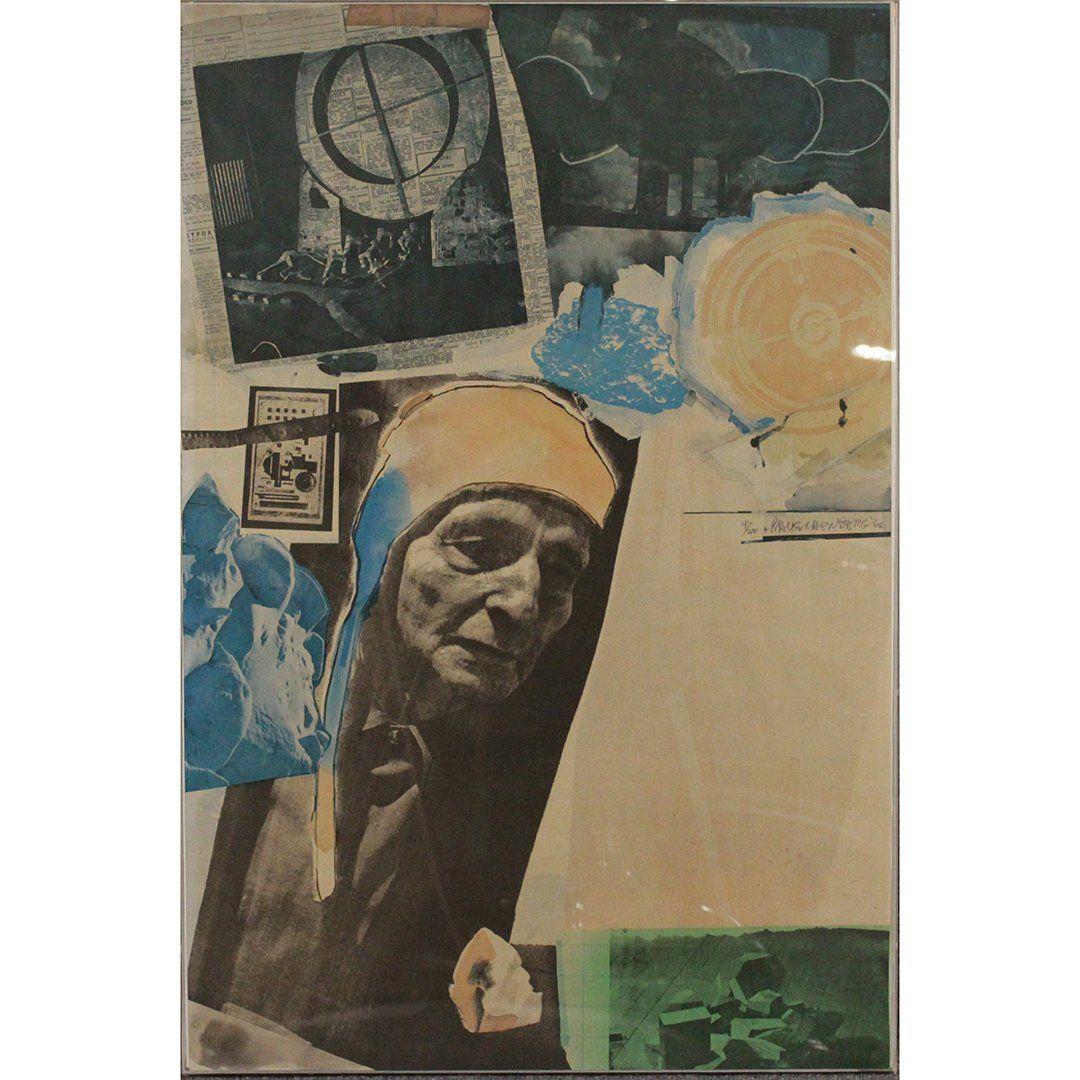 Robert Rauschenberg Color Offset Lithograph