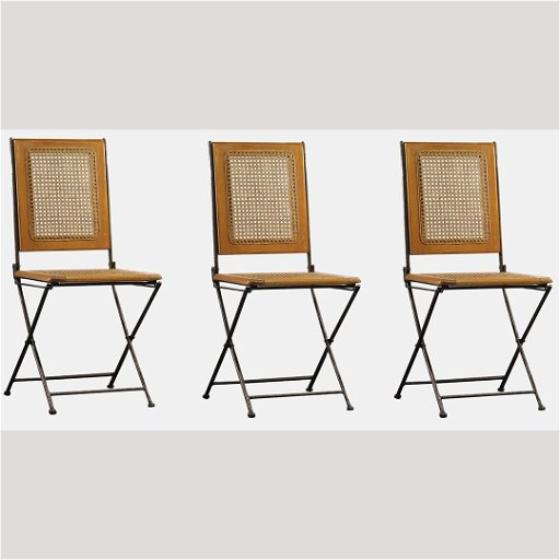 Admirable Three Mid Century Modern Folding Wood Metal Chairs Evergreenethics Interior Chair Design Evergreenethicsorg