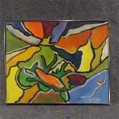 Herman Zuker Son of Jehudith Sobel Acrylic on Canvas