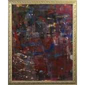Mid-Century Modern Abstract Mixed Media Painting