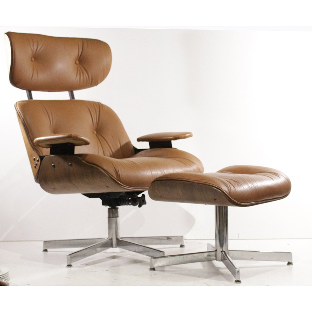 Herman Miller Eames Plycraft Style Brown Lounge Chair