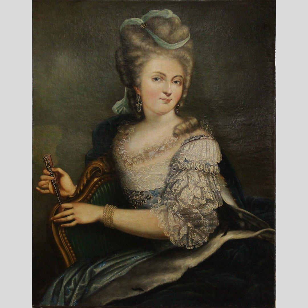 Elisabeth Louise Vigee-Lebrun, Oil/c Marie Antoinette