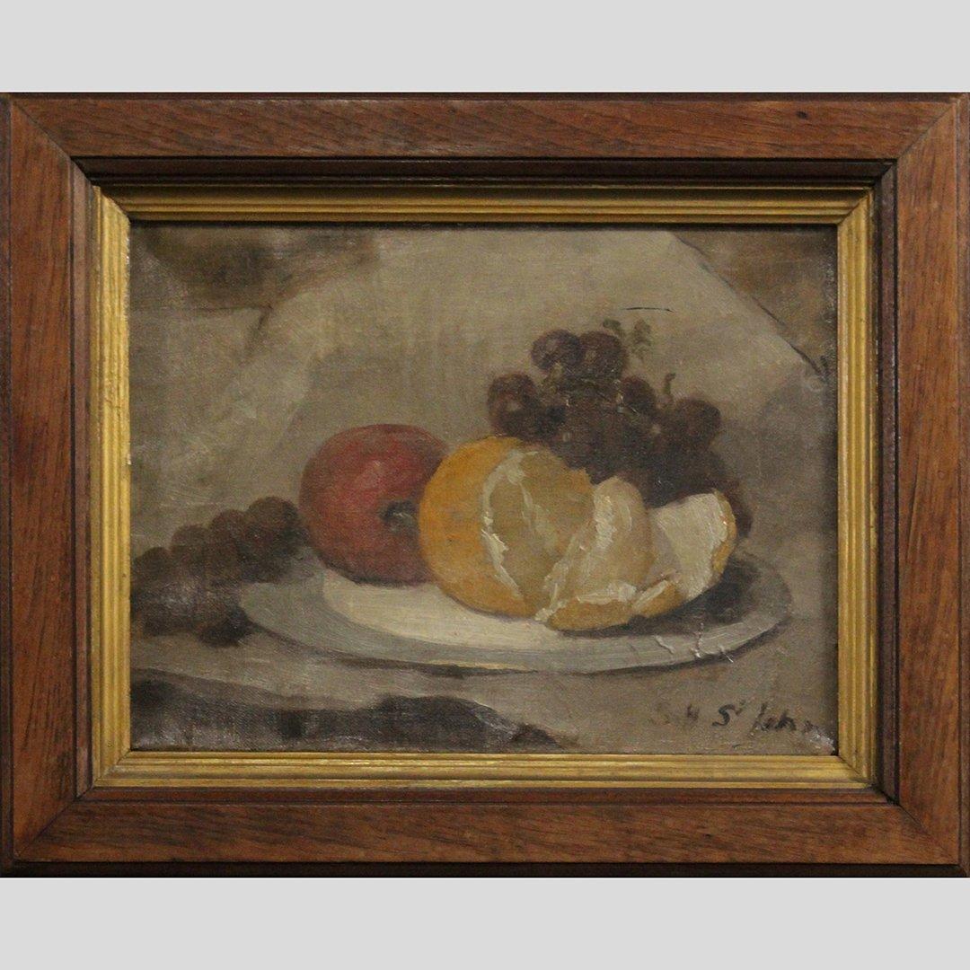 Susan Hely St John, American 1834-1913 Still Life Oil/c