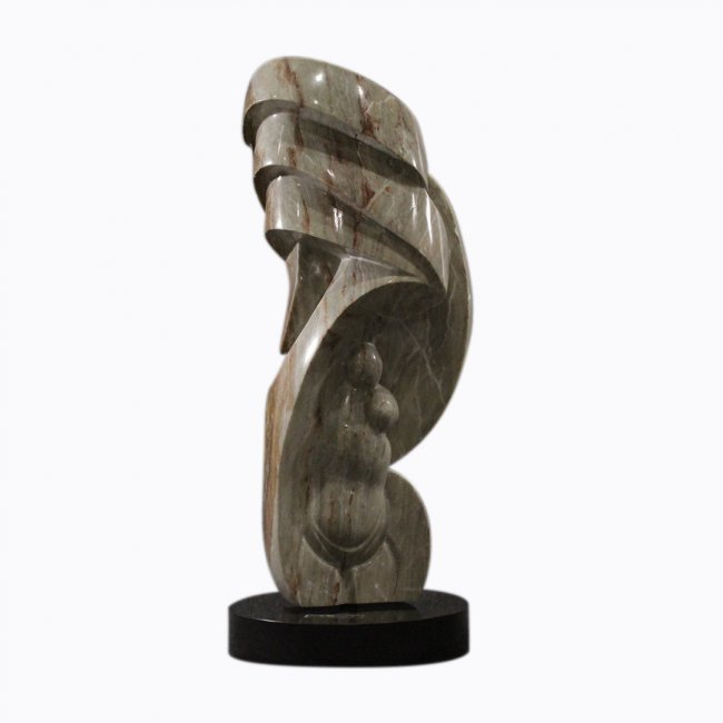 Large Modern Marble Sculpture Abstract and Geometric