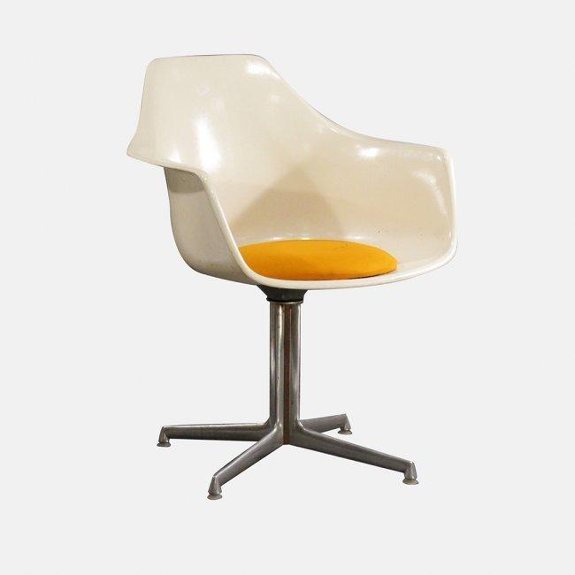 Burke Mid-Century Modern Fiberglass Shell Chair
