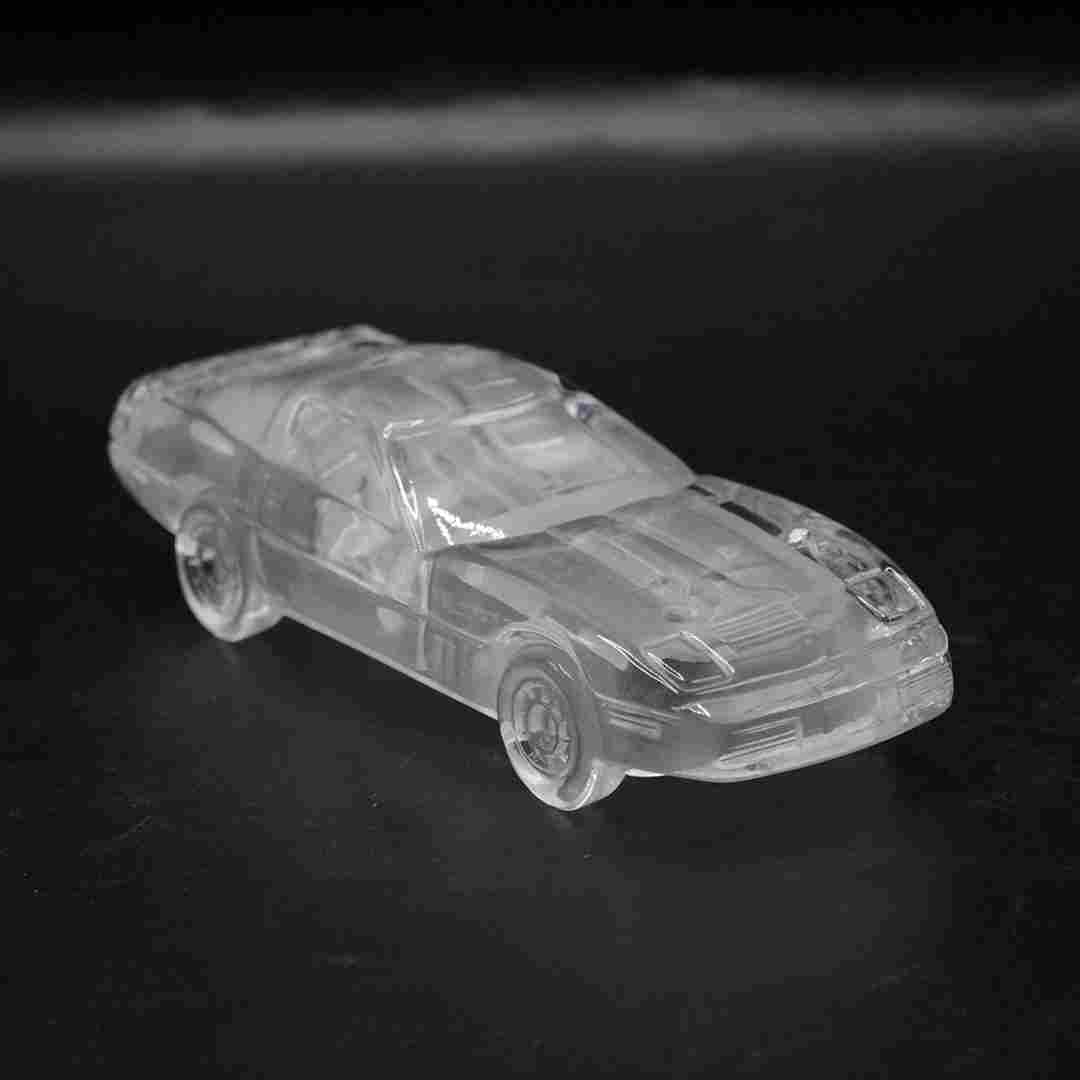Crystal Glass 1984 Corvette Paperweight