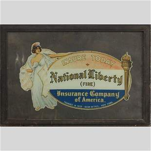National Liberty Fire Insurance Advertising, Framed