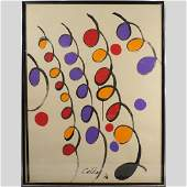 Alexander Calder 1976 Watercolor  Gouache Painting