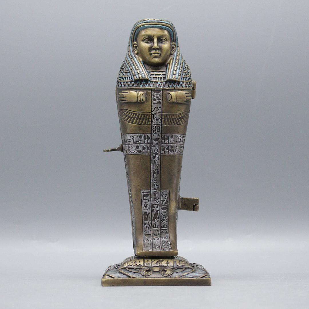 after Bergman Bronze Egyptian Mechanical Nude Inside