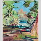 Nicholas Luttinger Large Oilc Abstract Landscape