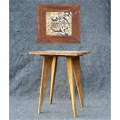 Anton Refregier attributed Abstract Tile Top Stand