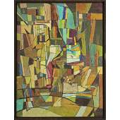Charles Green Shaw 1892-1974 NY, Abstract Oil on Board