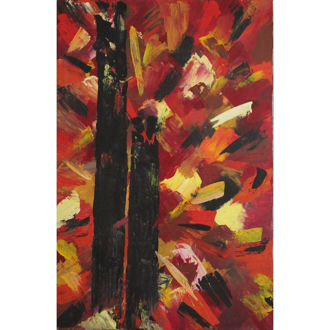 Templin, Mid-Century Abstract Expressionism Oil/c