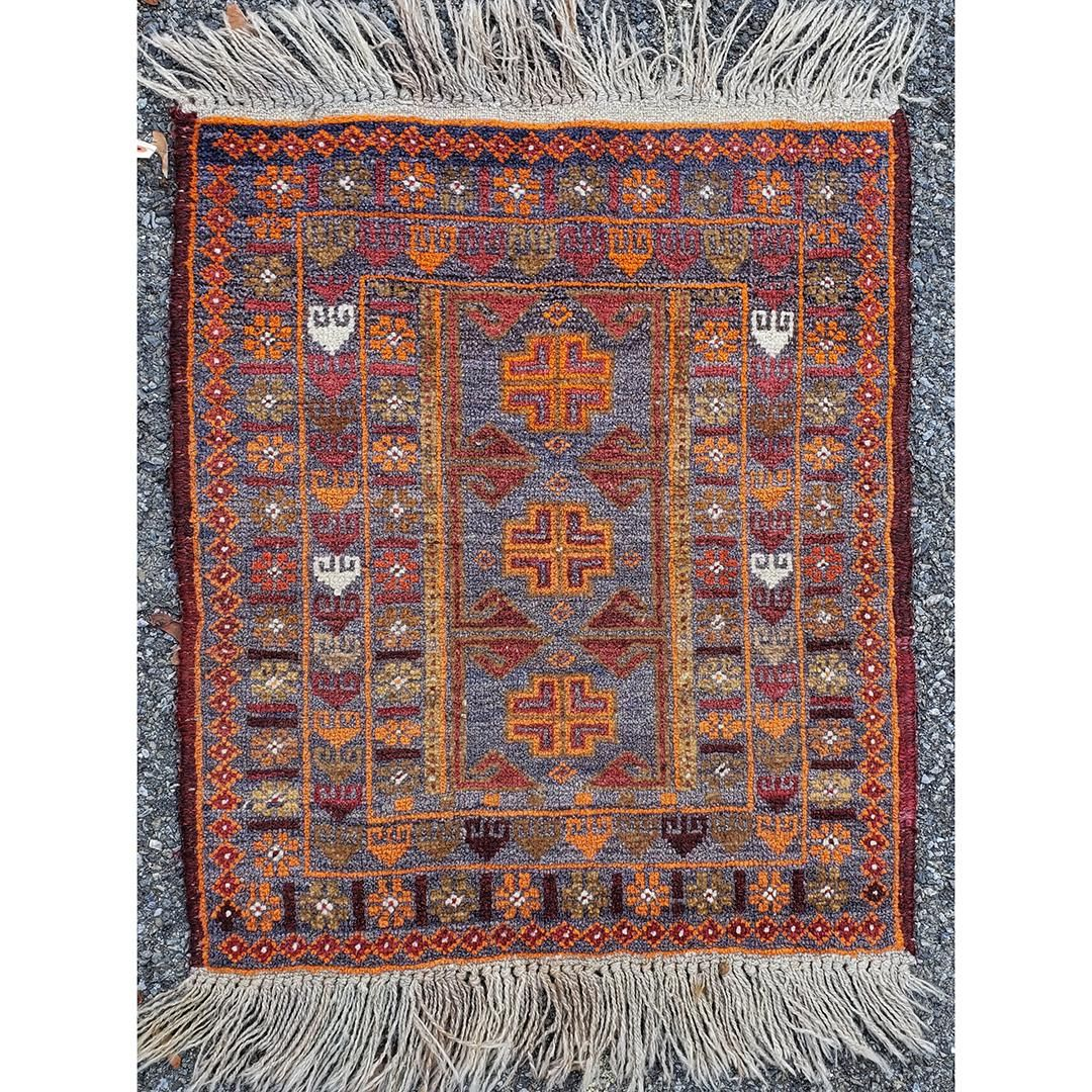 Hand Made Wool Persian Design Scatter Rug