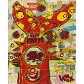 Wayne Cunningham, American, Modernism Abstract Figure