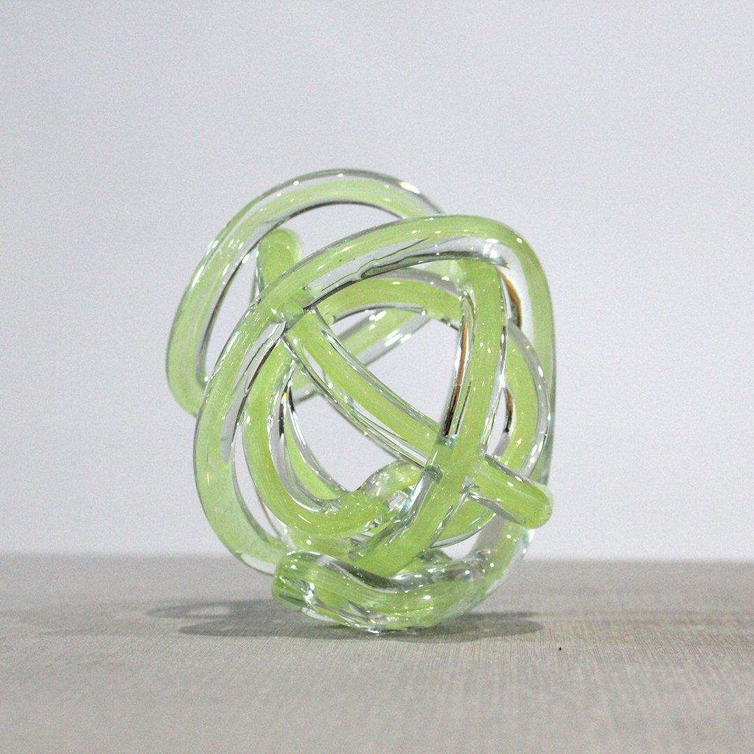 Mid-Century Modern Murano Art Glass Knot Sculpture