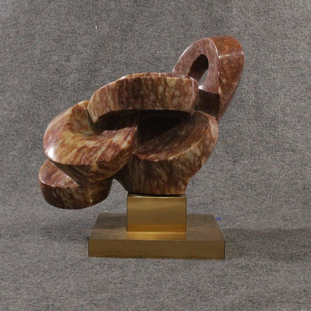 Mid-century Modern Brutalist Marble Abstract Sculpture