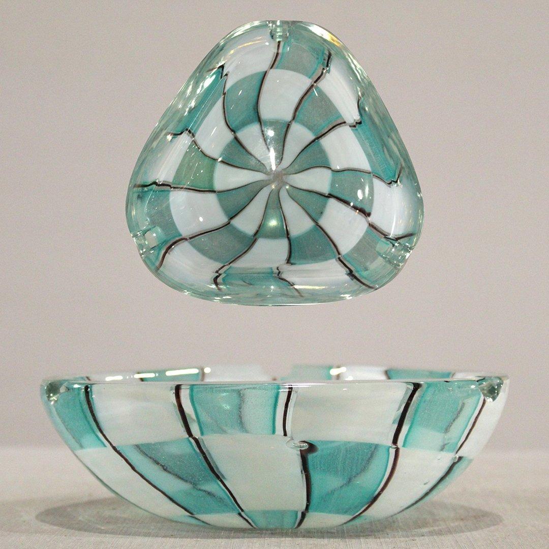 Mid-Century Modern Murano Art Glass Ashtray