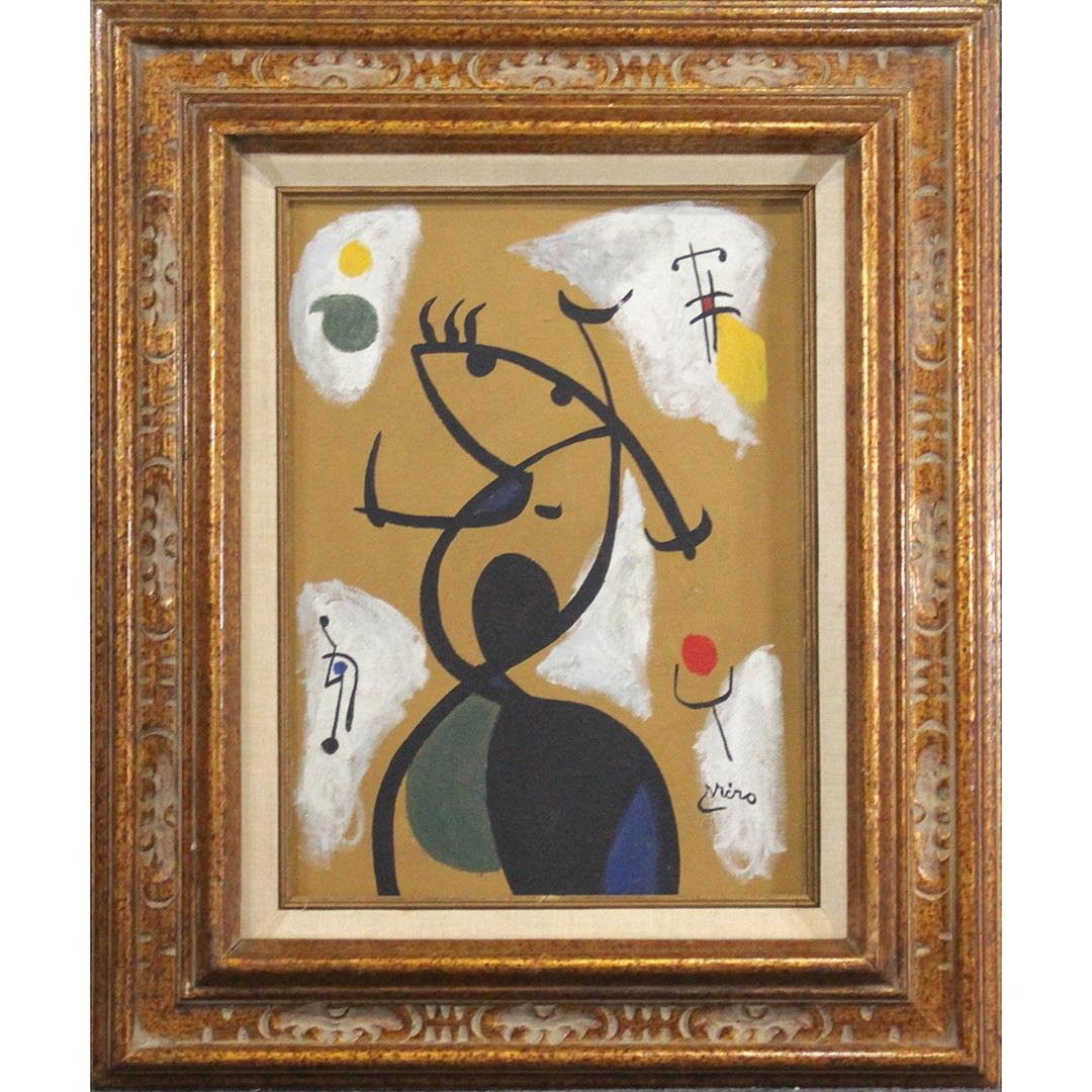 JOAN MIRO [1893-1983] Oil Painting Signed, Provenance