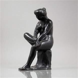 Aristide Maillol 1861-1944 Bronze Woman Nude Sculpture