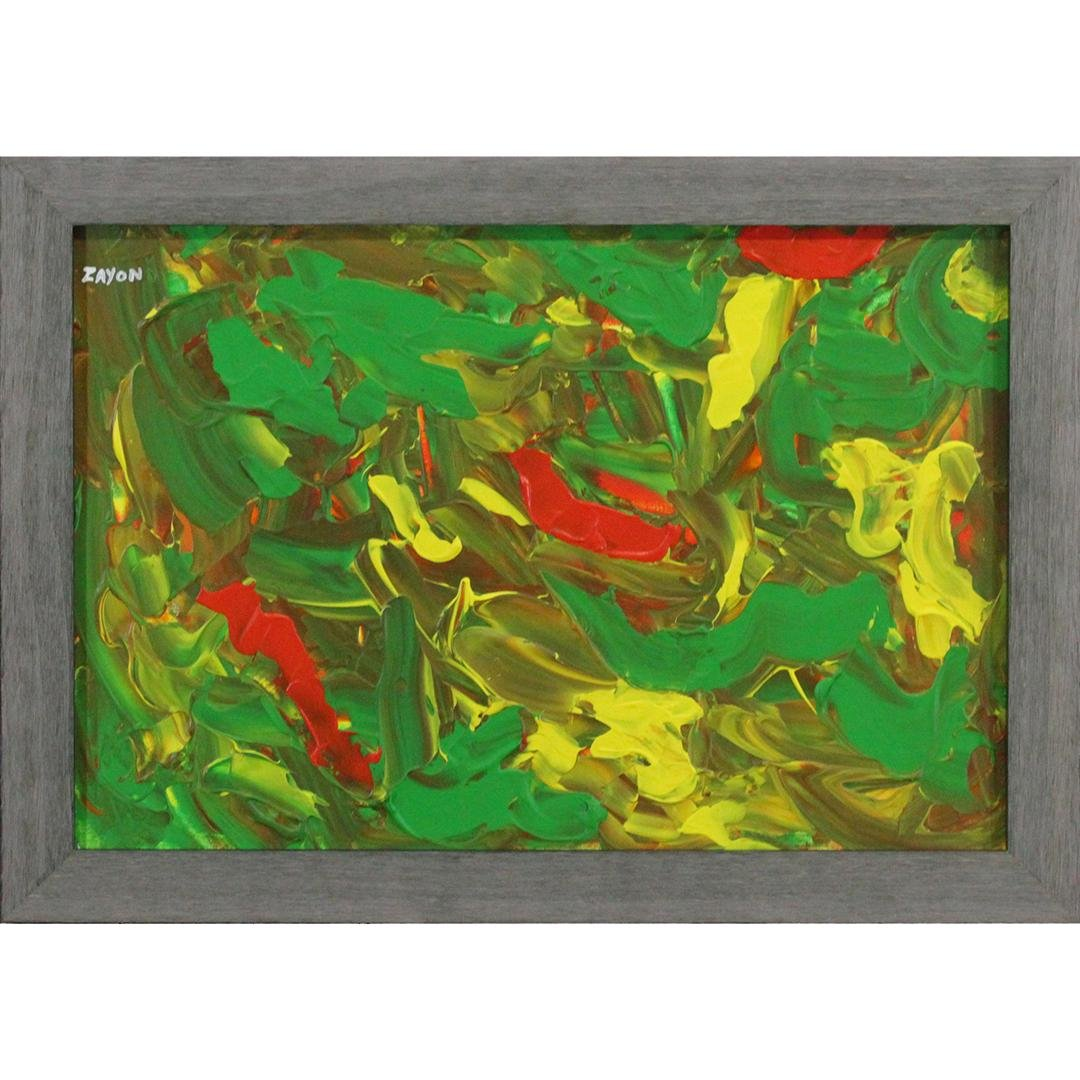 SEYMOUR ZAYON Mid Century Modern ABSTRACT Oil/b. Signed