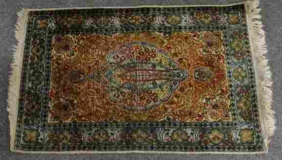 Estate Carpet: Persian Islamic Silk Prayer Oriental Rug