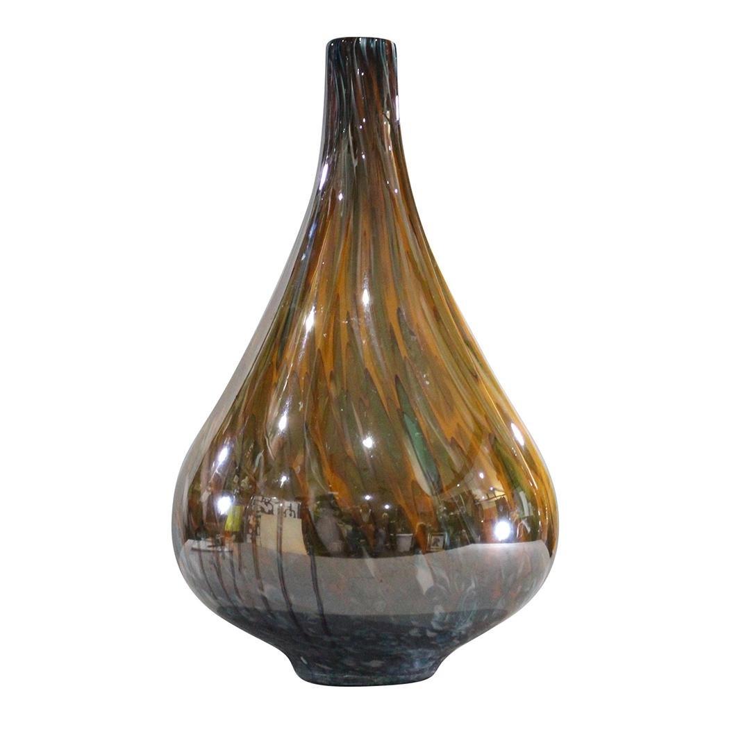 Mid-Century Modern Gourd Shaped Art Glass Vase