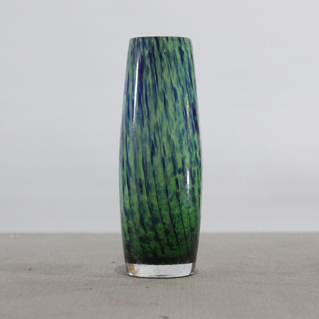Mid-Century Modern Tall Cylindrical Art Glass Vase