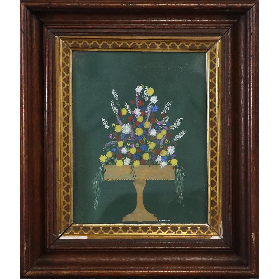 R R Bryant 1961, Mid-Century Naive Still Life Painting