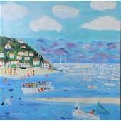 Alan Furneaux b. 1953 Listed, Oil/c Coastal Bay, Beach