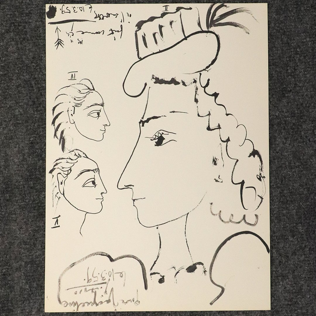 Pablo Picasso Lithograph Jacqueline Signed in Plate