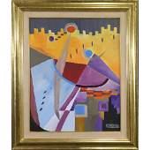 Herman Zuker Son of Jehudith Sobel Acrylic Abstract