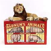 Large Steiff Lion in Original Barnum's Animals Box