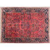 Antique Sarouk Oriental Scatter Rug Hand Made Wool