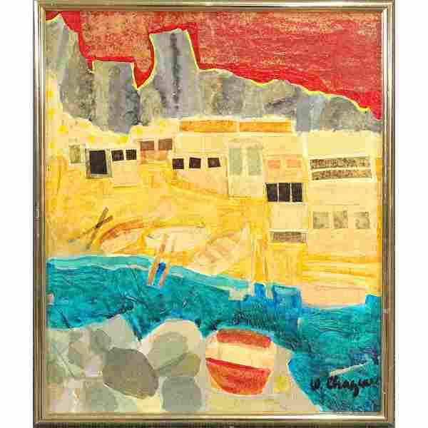 Wendy Chazin, 20th C American Acrylic Collage Abstract