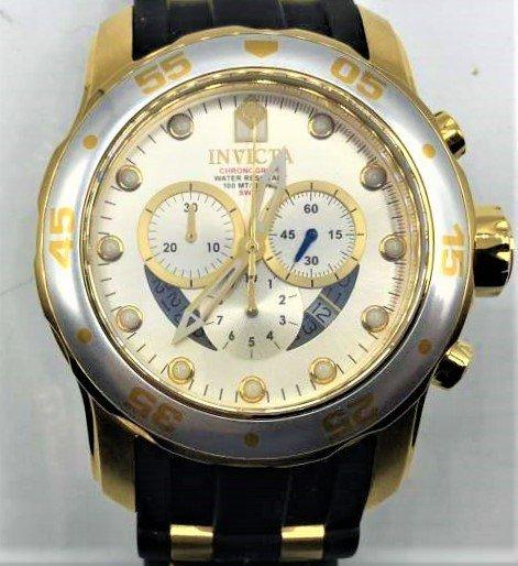 INVICTA Pro Diver Men's Wristwatch Silver & Gold Dial