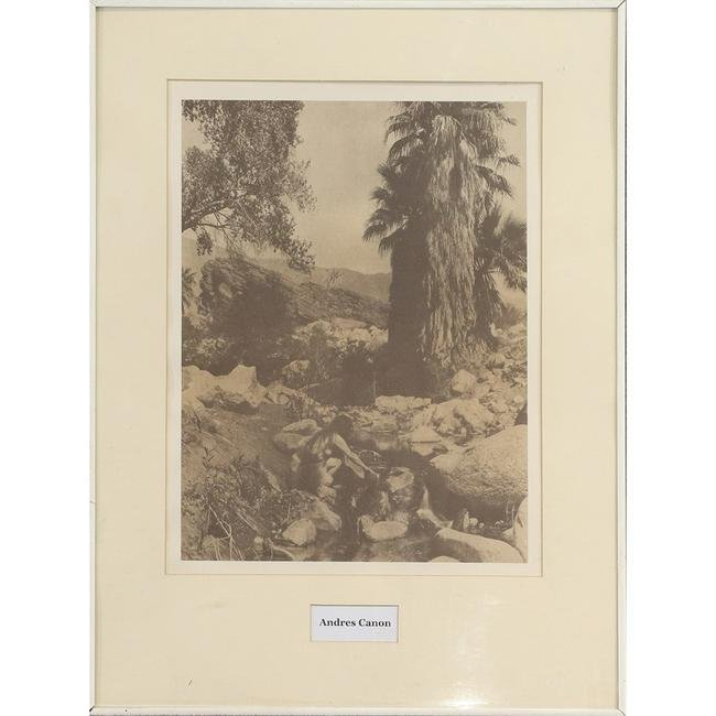 Edward Curtis Sepia Print Titled Andres Canon