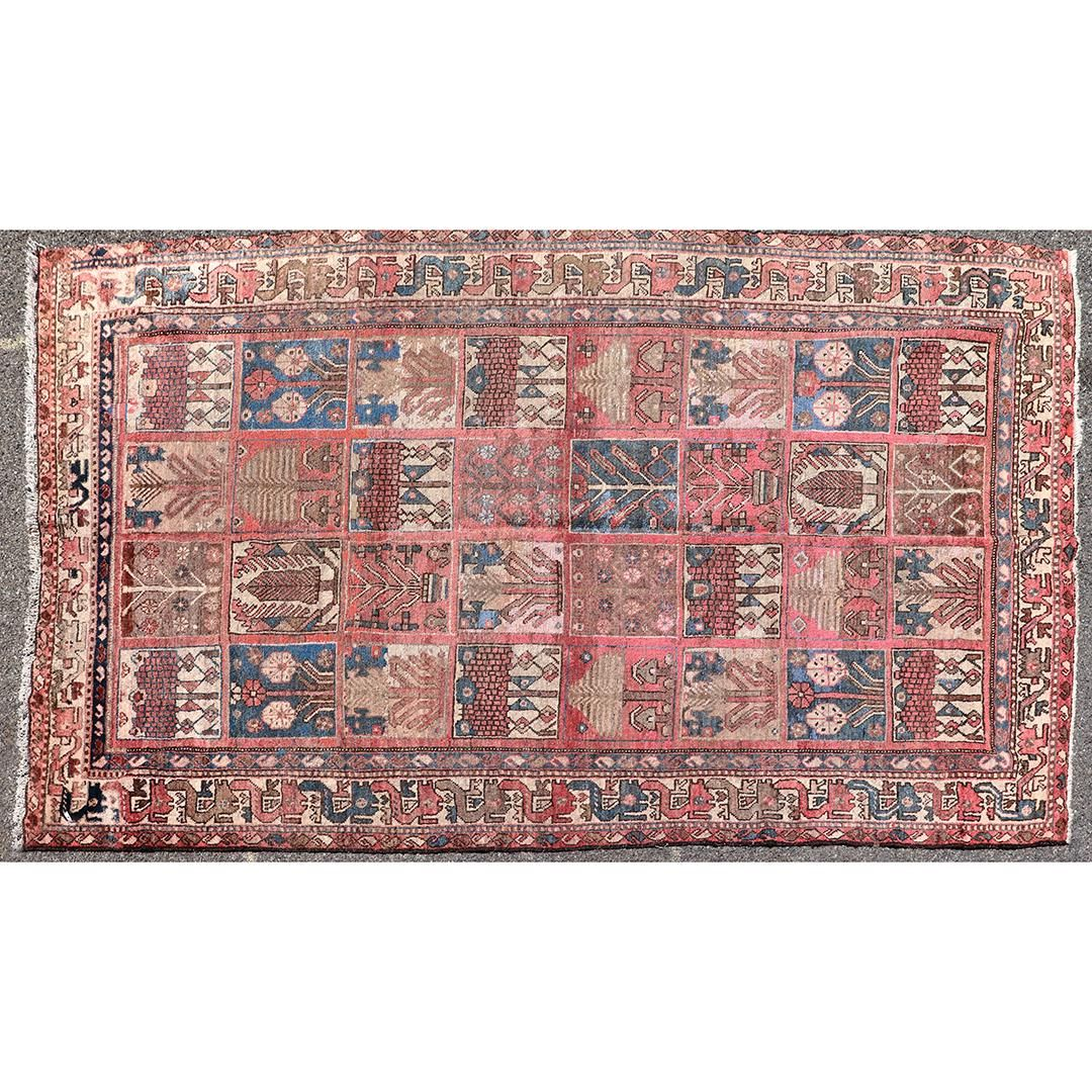 Persian Garden Design Hand Made Wool Oriental Rug