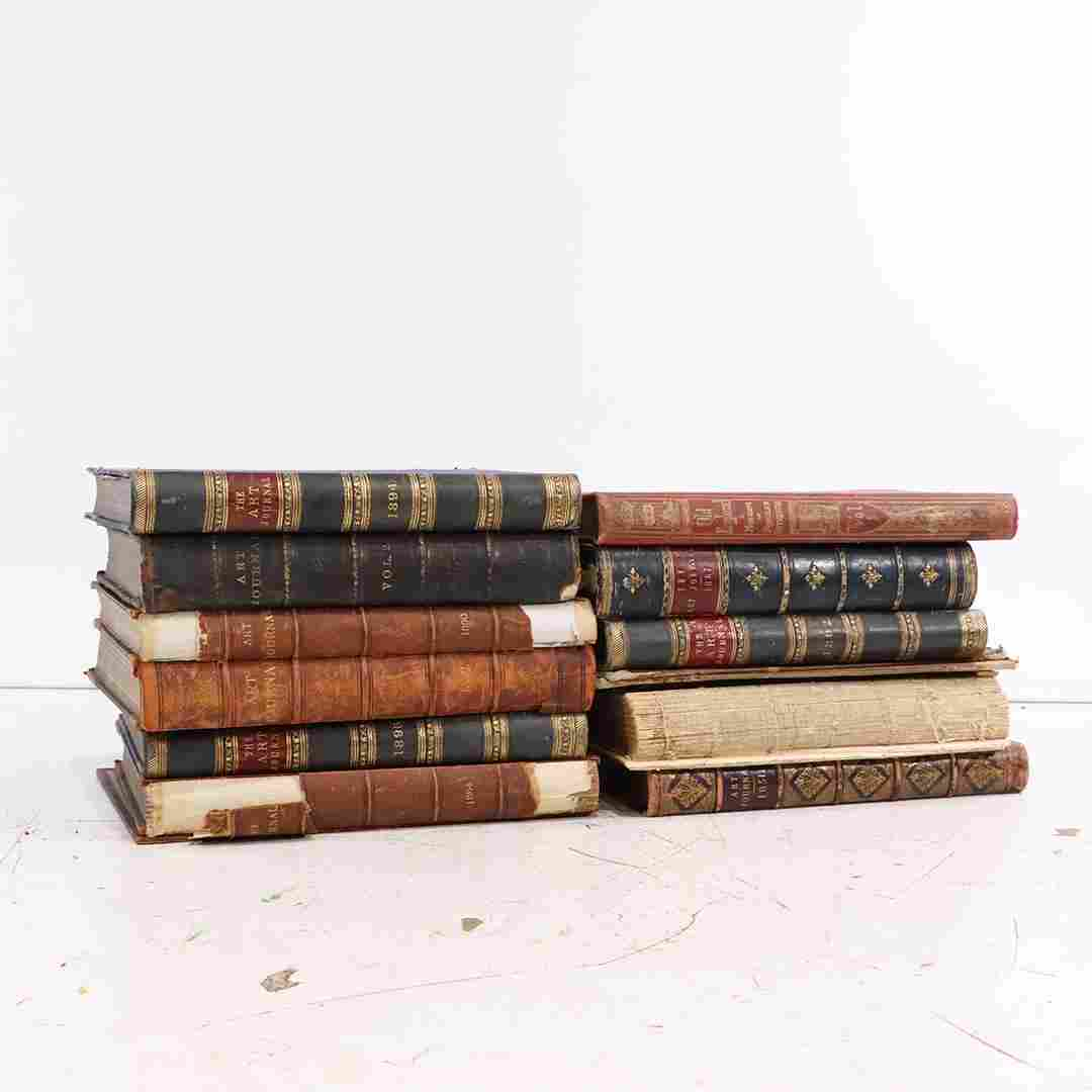 [11] Eleven Antique Art Journal Books 1896, 1951, 1884,