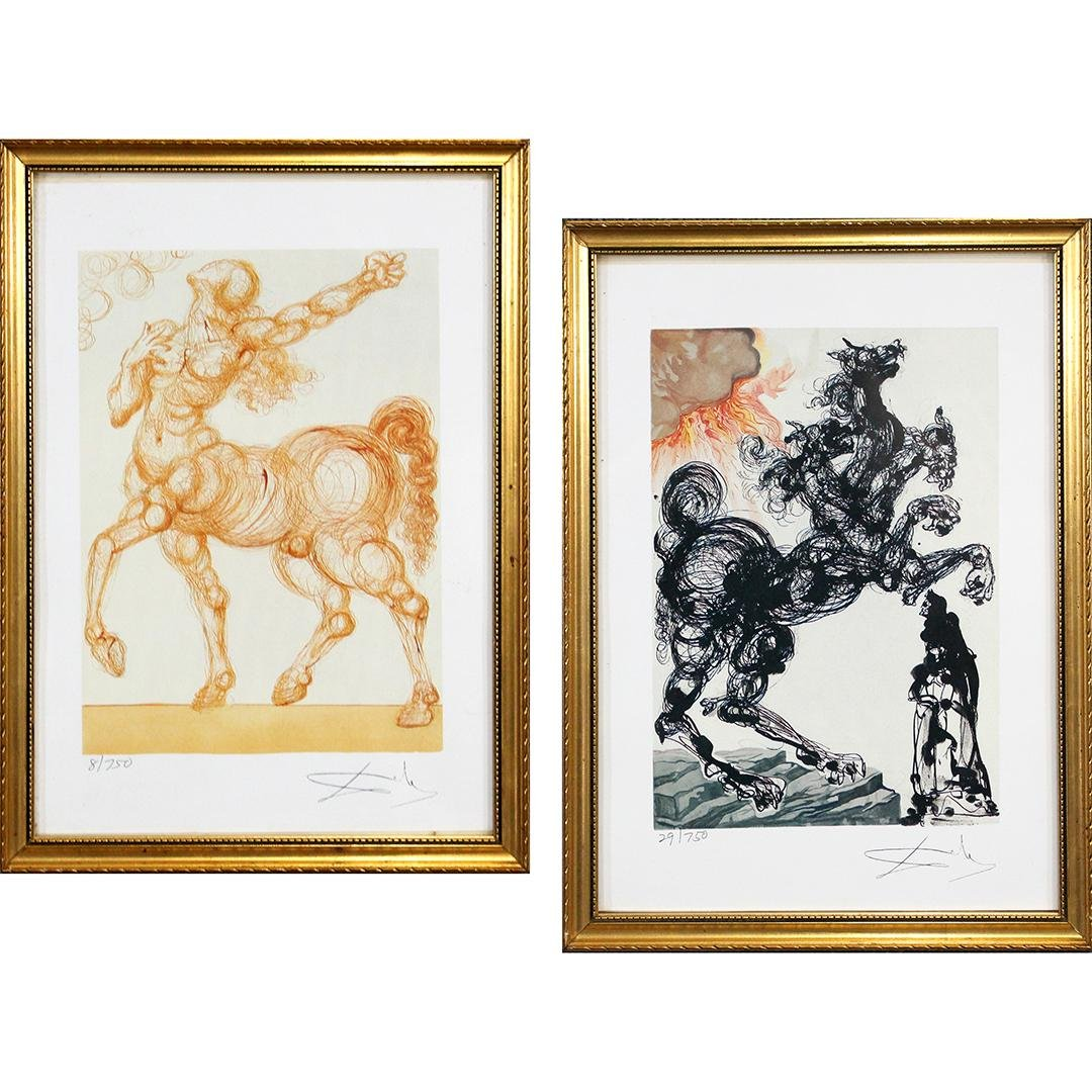 [2] Salvador Dali Lithographs Signed and Numbered