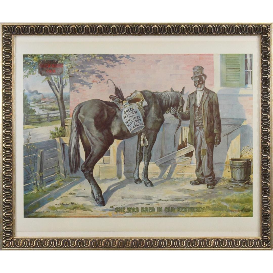Green River Whiskey Decorative Framed Poster