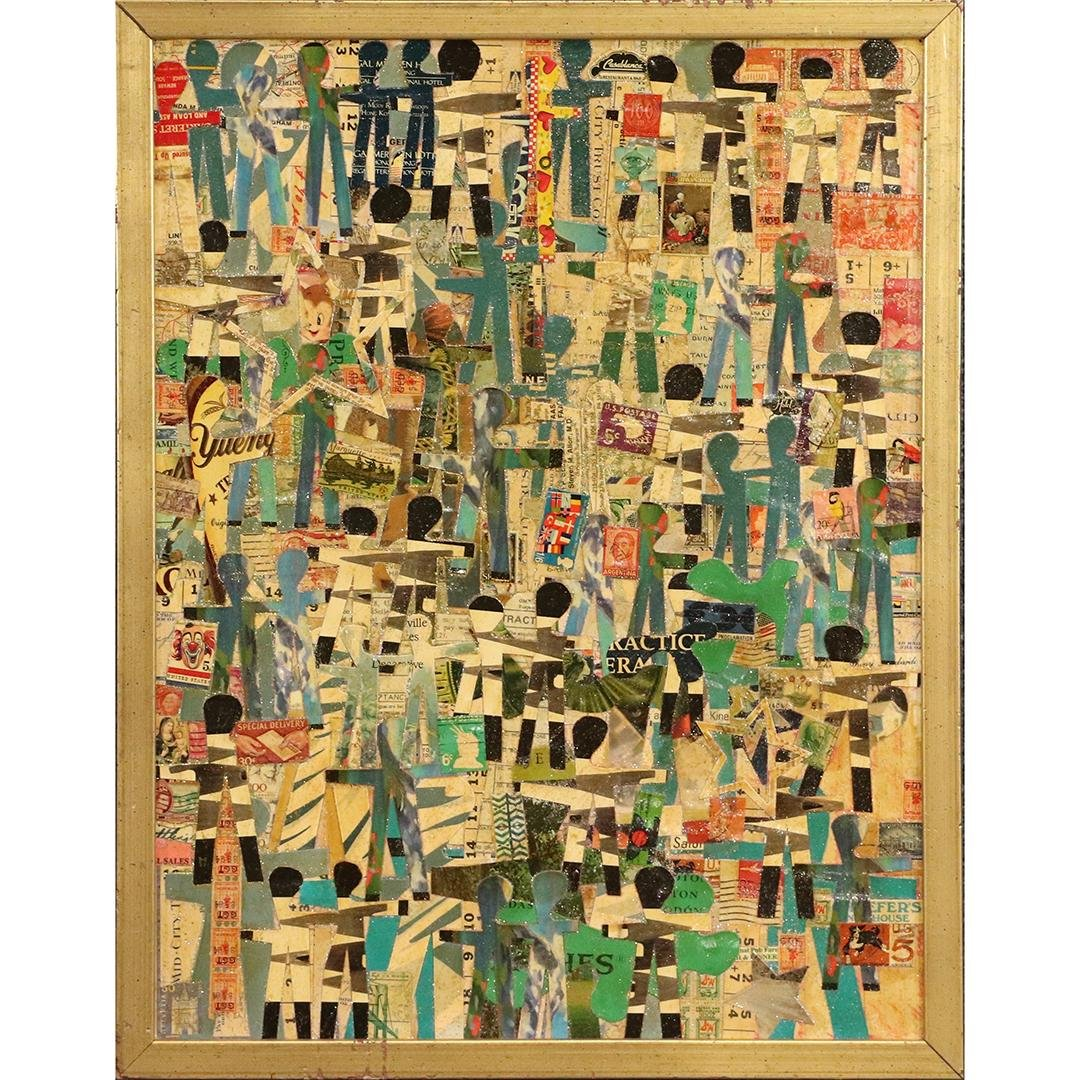 Wayne Cunningham, American, Modernism Abstract Collage